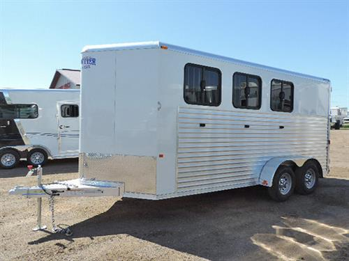 AD#0481 2016 Frontier Strider Series Combo/Slant 3H BP, LED Load Light In Dressing Rm & Rear Of Trailer, Air Flow Padded Dividers, Drop Dwn Windows w/Fold Dwn Bars, Roof Air Vents, Removable Rear Tack, 3 Tier Removable Saddle Rack In Dressing Rm