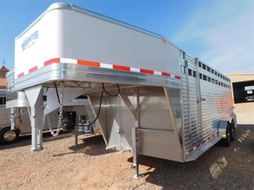 AD#13374 2017 Frontier GN 7' X 20' X 7' Stock, 1 Slam Latch Center Gate W/Half Slider, Ribbed Floor, Drop Down Calf Gate, Escape Door, Full Width Rear Door W/Half Slider, Spare Tire Mount. Financing & Delivery Available! Sug Selling $20,042  Sale Price $15,900