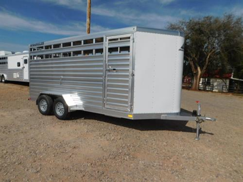 "AD#17225 2018 Elite Wrangler V-Nose BP 6'8"" X 15' X 7' Stock, Full Width Rear Gate W/Half Slider, Slam Latch Center Gate, HD Tread Plate Floor, HD Brush Fenders W/Extruded Aluminum, LED Bullet Lights, LED Interior Light, Plexiglass Track, Financing & Delivery Available! Sug Selling $16,040  Sale Price $11,700"