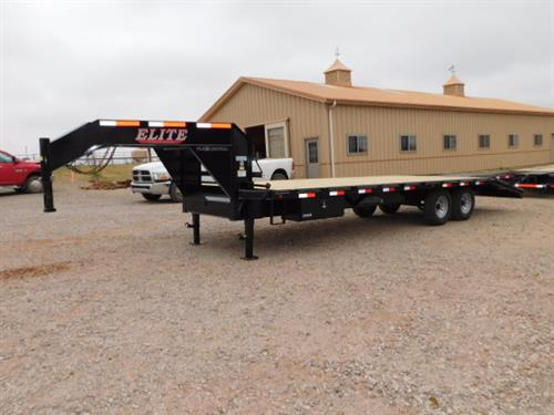 "AD#0434 2018 Elite GN 102"" X 20' + 5' Dovetail, 2 Fold Up Deck Level Ramps + 30"" Pop Up Ramp, Lid On Chain Box, Side Mount Tool Box, Treated Wood Floor, 2-7,000 Lb Axles. Financing & Delivery Available! Sug Selling $7,846  Sale Price $5,995"