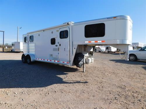 "AD#7034 2013 CM GN 6'8"" X 19' X 7', 2 Horse W/8' LQ, Sofa-Sleeper, 3 Cu Fridge, 2 Burner Stove, Microwave, Stainless Steel Sink, AM-FM Stereo, Ducted Furnace, AC, Shower, Stool, Walk-Thru Door, Collapsible Rear Tack, 3 Tier Saddle Rack, Bridle Hooks, 1 Drop Down Window, Escape Door, Rubber Lined Walls, Rubber Floor Mats, LED Interior Lights, Roof Vents, Awning. Trailer Is In Very Good Condition! Financing & Delivery Available! Sale Price $27,900"
