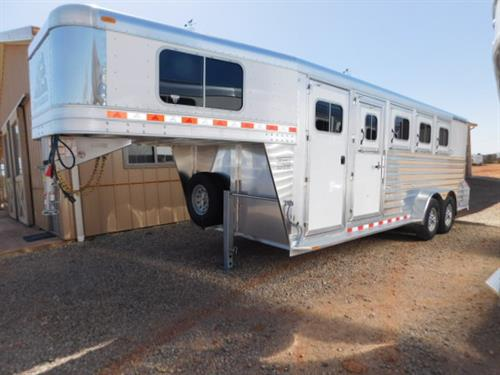 "AD#17999 2019 Elite Mustang GN 7' X 21' X 7', 4 Horse W/3'6"" To 7'6"" Dress Room, Movable 4 Tier Saddle Rack-Dress Room To Rear Tack, Blanket Bar, Bridle Hooks, Brush Tray, 4' Cloth Rod, Carpeted GN-Drop-Floor, Windows In GN, 4 Drop Down Windows W/Fold Down Bars, 4 Drop Down Windows On Rump, Padded Dividers, Lined & Insulated Walls, Floor Mats, Collapsible Rear Tack, Bridle Hooks, 4 Roof Vents, 8 Inside Tie Hooks, 4 Outside Tie Hooks"
