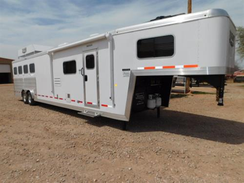 "AD#6204 2018 Logan Limited 814 GN 8' X 32' X 7'6"", 4 Horse, 14' Solid Knotty Alder W/8' Slide-Out - Dinette, Sofa-Sleeper At GN Drop, PRE-WIRED FOR GENERATOR, ALUM-WHIZ PROOF W/SURE GRIP FLOOR (NO FLOOR MATS TO REMOVE)"