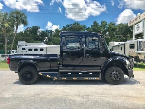 2010 Freightliner M2 Sport Chassis  • 119k miles Air Ride seats and Cab • Cummins ISC 330 • Exhaust brake • All black exterior • 8' Truck bed option • Rhino lined front bumper • Rhino lined mirrors • Rhino lined skirting horizontal surfaces • Rhino lined truck bed • Allison automatic transmission (6 speed)