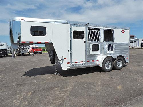 "#1112  2015 Hart 2H GN   6'8"" x 15' x 7'1"",  5 ft Short Wall, Dressing Room, Boot Box, Walk-thru Door, 2 Drop-Down Doors  w/Grill on Guardshead Side, Folding Rear Tack.   1 Owner, LIKE NEW!  Sale Price $16,900.00"