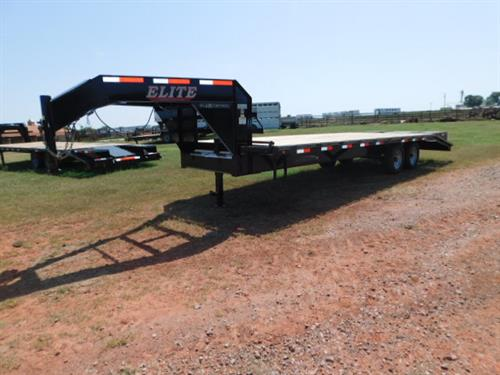 "AD#770 2018 Elite GN 102"" X 20+5 Dovetail, Lid On Chain Tray, 2 Fold UP Deck Level Ramps + 30"" Pop-Up Ramp, Treated Wood, 2-7,000 Lb Axles. Sug Selling $8,792  Sale Price $6,300"