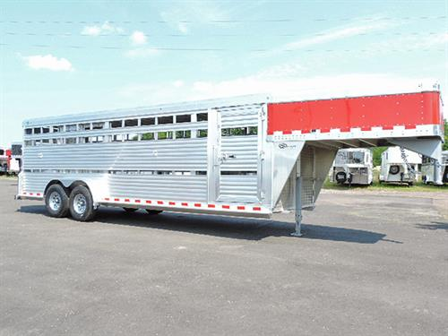 "#4233   2018 Barrett Stock Trailer, 7'x24'x6'6""  7K Axels, Heavy Duty 8-hole wheels, 16"" 14-ply Tires, 2 Center Gates, 1st Gate Solid, 5ft back from Drop, 2nd Gate w/Slider Place 12' back of Drop. Rear Full-Swing w/Slider.   Financing & Delivery Available. ***Sale  Price $17,900.00***"