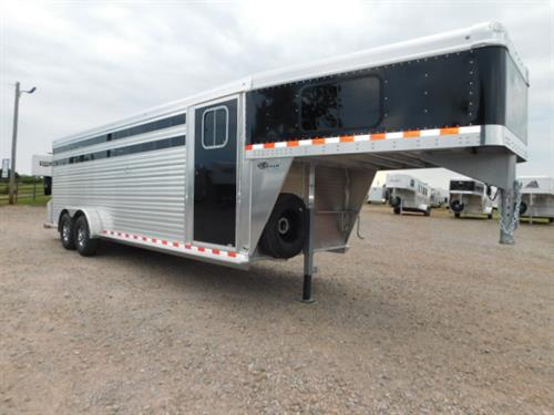 "AD#4365 2018 Barrett GN 7' X 24' X 7' S/C W/4' Dress Room, 3 Tier Saddle Rack, Bridle Hooks, Blanket Bar, Brush Tray, GN Windows, Rubber Floor Mat, 20' Stock Compartment W/1 Center Gate, Escape Door, 2 Roof Vents, Full Width Rear Gate W/Half Slider, Plexiglass, Tie Hooks, Bullet Lights, 2-7,000 Lb Axles, 16"" 14Ply Aluminum Wheels + Spare. Financing & Delivery Available! Sug Selling $27,500  Sale Price $19,500"