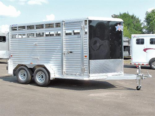 "#10149  2018 Frontier Livestock, BP  7'x14'7' 'x 6'6""Tall, Black, V-Nose, 3500 lb Axle, Dome Light, 15"" Tires, Full Rear Gate w/ Slider, Rubber Dock Bumper .  Financing & Delivery Available. *** Sale Price $9,900.00***"