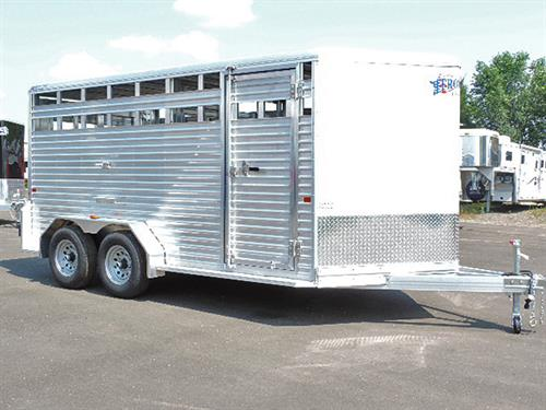 "#10150	  2018 Frontier Livestock, BP  7'x16'x6'6"" Tall,  V-Nose, 3500 lb Axle, 15"" Tires, 1  Dome Light,  Center Gate w/ Slider, Rear Gate w/Slider, Rubber Dock Bumper.  Financing & Delivery Available.   ***Sale Price $10,400.00***"