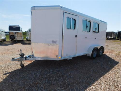 "AD#2785 2012 Featherlite BP 7' X 11' X 7', 2 Horse, 4'6"" To 8' Dress Room, Brush Tray, 4 Removable Blanket Bar, Carpeted Floor, 6 Bridle Hooks, 180 Rear Doors W/Cam Locks, Collapsible Rear Tack, 2 Tier Removable-Movable Saddle Rack, 2 Drop Down Windows W/Fold Down Bars, Large Sliding Rump Windows, 2 Roof Vents, Rubber Walls, Floor Mats, Bullet Lights, 205/75 R15 + Spare. Trailer Has Been Fully Serviced & Ready To Go! Trailer Is In New Condition! Sale Price $10,900"