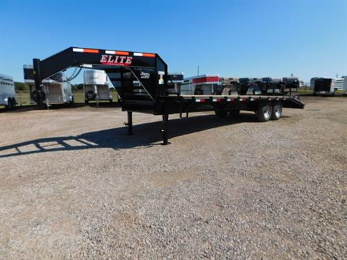 "AD#18 2019 Elite GN 102"" X 20'+5' Dovetail, Lid On Chain Tray, 2 Fold Up Deck Level Ramps + 30"" Pop Up Ramp, Treated Wood, 2-7,000 Lb Axles. Financing & Delivery Available! Sug Selling $7,821 Sale Price $6,495"