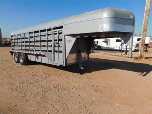 "AD#7058 2011 Delta GN 6' X 20' X 6'6"" Metal Top Stock W/Enclosed Nose, Drop Down Calf Gate, Full Width Rear Gate W/Half Slider, 1 Solid Center Gate, Escape Door, Floor Mats, Front Gravel Guard, Double Tail Lights, NEW 235/85 R16 Goodyear Radials, 2-6,000 Lb 8 Lug Axles. Trailer Has Been Fully Serviced & Ready To Go! Trailer Is In Excellent Condition! Sale Price $4,500"