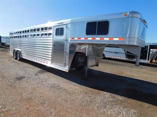 "AD#18675 2019 Elite GN 8' X 28' X 7' DLX Stock Combo, 4' Dress Room, 4 Tier Saddle Rack, Bridle Hooks, Brush Tray, Carpeted GN-Drop-Floor, Butterfly Rear Gates, 2 Slam Latch Center Gates W/Outside Release, Compartments 4'-9'-11', Lined & Insulated Walls & Fenders, Floor Mats, 3 Dome Lights, 2 LED Awning Load Lights, LED High Turn Signals, Plexiglass Track, 2-8,000 Lb Axles, 16"" Radials & Spare! Financing & Delivery Available! Sug Selling $43,938  Sale Price $34,500"