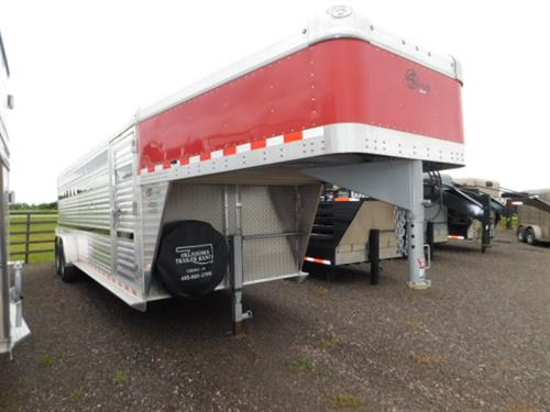 "AD#4334 2018 Barrett GN 7' X 24' X 6'6"" Stock, Full Width Rear Gate W/Half Slider, Drop Down Calf Gate, Escape Door, Lower 2"" Air Gap, Plexiglass, Double Tail Lights, Bullet Lights, Corrugated Ribbed Floor, 2-7,000 Lb Axles, 16"" Radials. Financing & Delivery Available! Sug Selling $25,925  Sale Price $17,500"
