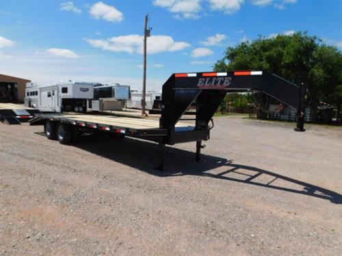 "AD#522 2019 Elite GN 102"" X 20+5 Dovetail, Lid On Chain Box, 2 Fold Up Deck Ramps + 30"" Pop Up Ramp, Treated Wood, 2-10,000 Lb Dual Wheels, 14Ply Radials. Financing & Delivery Available! Sug Selling $11,564  Sale Price $8,400"