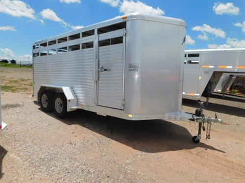 "AD#4909 2005 Featherlite 8107 BP 6'8"" X 16' X 6'6"" Stock, Full Width Rear Gate W/Half Slider, Center Cut Gate, Escape Door, Treated Wood Floor, 2-3,500 Lb Axles. Trailer Is In Excellent Condition! Trailer Has Been Fully Serviced & Ready To Go! Sale Price $7,900"