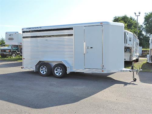 "#7407 – 2006 Featherlite   3H BP  6'8""x 16'x7', V-Nose Stock Combo  Model  8107,  Front Tack Area w/Saddle Racks, Halter Hooks, Brush Tray, with Swing-Wall 2-Horse Divider, Rubber Mats, Tread-Wood Floor, Plex-Glass in Air Spaces, Aluminum Wheels,  Spare Tire. Financing & Delivery Available.  ***Sale Price $8995.00***"