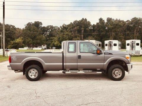 2012 Ford F-250 Extended Cab 4x4 Longbed Truck with 82,000 Miles on the Gas Engine.  Automatic, Cloth Interior, Gooseneck Hitch and Wired for Hauling.