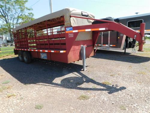 "AD#  1998 Gooseneck GN 6' X 20' X 6'6"" Canvas Top Stock, Full Width Rear Gate W/Half Slider, Center Cut Gate W/Half Slider, Rumber Floor Planks, 2-7,000 Lb Axles, 16"" Radials + Spare, New Jack. Trailer Has Been Fully Serviced & Ready To Go! Trailer Is In Excellent Condition! Sale Price $5,500"
